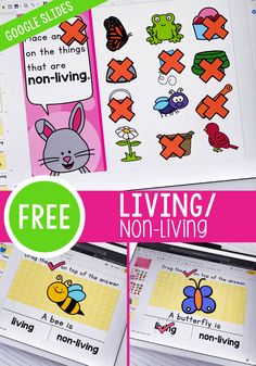 Free Living/Non-Living Things science activity for kindergarten and preschool. Learn about what thi Kindergarten Activities, Preschool Science, Classroom Activities, Science For Kids, Summer Science, Science Fun, Kindergarten Writing, Educational Activities For Preschoolers, Free Activities