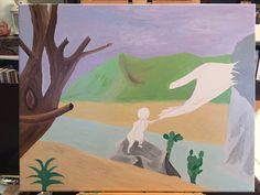 """""""La passion en héritage """" 3 ème étape. Le plaisir de la #peinture à l'huile <3 Passion, Voici, Painting, Oil On Canvas, Acrylic Paintings, Board, Paintings, Draw, Drawings"""
