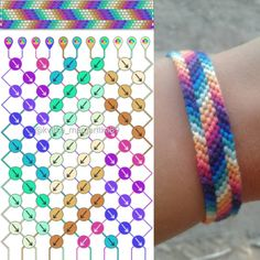 My recolor for this pattern☺ Galaxy stripe bracelet 🌹 You are in the right place about Friendship Bracelet cardboard circle Here we of Diy Bracelets Easy, Thread Bracelets, Embroidery Bracelets, Bracelet Crafts, Gold Bracelets, Gold Earrings, String Bracelets, Macrame Bracelets, Indian Earrings
