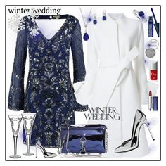 """True Romance: Winter Wedding"" by amisha73 ❤ liked on Polyvore featuring Frock and Frill, Goen.J, Yves Saint Laurent, Blue Nile, Effy Jewelry, Rebecca Minkoff, LunatiCK Cosmetic Labs, Obsessive Compulsive Cosmetics, Maybelline and Christian Dior"