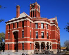 The Lee County Courthouse located in Giddings, Texas, United States. The courthouse was built in 1899 and is designed in the Richardsonian Romanesque style of architecture. © 2014 Larry D. Moore