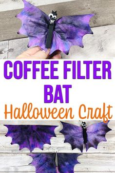 Coffee Filter Bats Halloween Craft for Kids - These Coffee Filter Bats are so cute! Planning some fun Halloween crafts for kids? Happy Halloween, Halloween Crafts For Toddlers, Crafts For Teens To Make, Halloween Bats, Toddler Crafts, Halloween Themes, Preschool Crafts, Fun Crafts, Creative Crafts