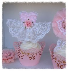 Items similar to Beautiful Princess Dress Cupcake Topper for Birthday Party or Birthday Decorations on Etsy Ballerina Cupcakes, Ballerina Birthday, Baby Birthday, Birthday Parties, Dress Cupcakes, Giant Cupcakes, Paper Doily Crafts, Doilies Crafts, Princess Cupcake Dress