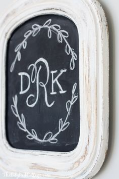 DIY Chalkboard Monogram Art - The Lilypad Cottage