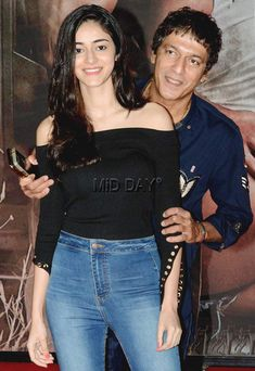 Chunky Pandey with daughter Ananya at the special screening of Baaghi 2 in Mumbai