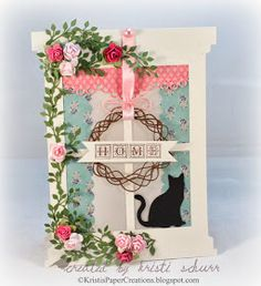 Kristi's Paper Creations: Open Window -Guest Designing At The Shabby Tea Room
