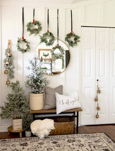 New Ideas for Traditional Christmas Decorations Traditional Christmas decorations can easily be reinvented with a little creativity! See how to create unique Christmas wall art with these standard pieces.