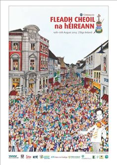 2014 Fleadh Cheoil Poster by Annie West Illustration at http://dch.ie/1iDvRxH