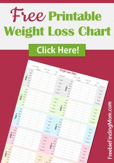 Free Printable Weight Loss Chart #weightloss #loseweight