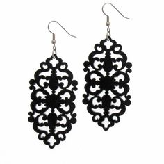 Victorian Lace Statement Earrings (38 PLN) ❤ liked on Polyvore featuring jewelry, earrings, victorian earrings, victorian jewelry, lightweight earrings, earring jewelry and lace earrings