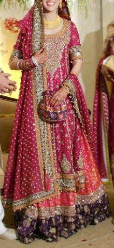 pakistani bride Maybe walima dress! Indian Bridal Wear, Pakistani Wedding Dresses, Pakistani Outfits, Indian Dresses, Indian Outfits, Indian Wear, Desi Bride, Desi Wedding, Wedding Ideas
