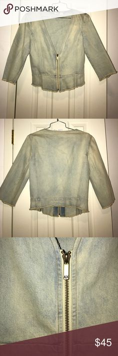 Armani Exchange Denim Jacket Size Medium fitted Denim jacket in great condition A/X Armani Exchange Jackets & Coats Jean Jackets