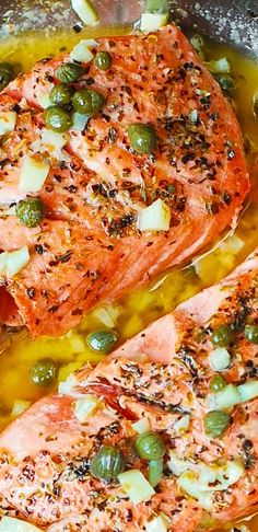 Steelhead Trout (or Salmon) with Caper-Garlic Lemon Butter Sauce - healthy…