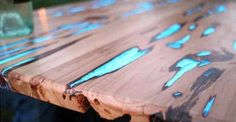 Want to make this cool glow in the dark table? You totally can.