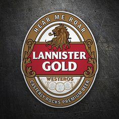 Pegatinas: Juego de Tronos Lannister Gold #GoT #HearMeRoar