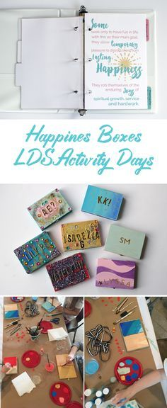 Happiness Boxes for LDS Activity Days, great website for primary and activity day printable handouts and activity ideas!