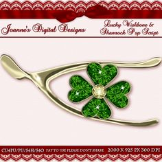 Lucky Wishbone and Shamrock PspScript $6.00 - 65% off all this month! :) Also available as a Photoshop layered template Check out my new $50 Unlimited Useage License too! http://www.joannes-digital-designs.com/lucky-wishbone-and-shamrock-pspscript-p-2429.html
