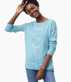 Merry Happy Bright Sweater