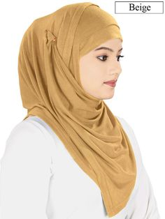 Ready to wear Jersey Viscose Soft Hijab, easy to shape, a must have Hijab for every wardrobe -Free size, ready to wear hijab -Soft viscose jersey fabric -Dimension 150 x 40 cm approx. (after laying flat - please see picture for details) -Matching Band included Colour: 11 colors Fabric: