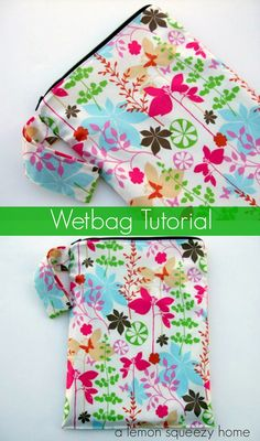 The best wet bag tutorial I've found so far. Now to add a pocket to the front of it.