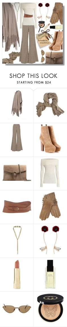 """""""I am thankful for..."""" by simply-one ❤ liked on Polyvore featuring 360 Sweater, Caroline Constas, Yves Saint Laurent, Gucci, The Row, Emporio Armani, Maison Fabre, Eddie Borgo, Futuro Remoto and Axiology"""