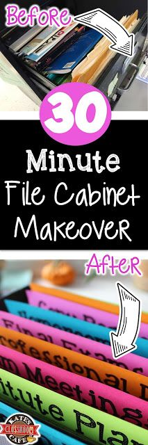 Kate's Science Classroom Cafe: 30-Minute File Cabinet Makeover with Free Template...