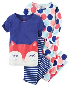 online shopping for Carter's Girls' 4 Pc Cotton from top store. See new offer for Carter's Girls' 4 Pc Cotton Cute Little Girls Outfits, Girl Outfits, Kids Pjs, Baby Girl Pajamas, Cotton Pjs, Carter Kids, Girls 4, Baby Girls, Teen Boys