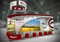 exhibition stand BELAGRO on Behance