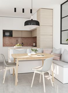 small kitchen with dining area