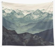 Buy Mountain Fog Wall Tapestry by Micaela Dawn. Worldwide shipping available at Just one of millions of high quality products available. Tapestry Bedroom, Wall Tapestry, Tapestry Nature, Tapestry Design, Dorm Life, Room Goals, Apartment Living, Men Apartment, Living Room