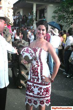 Pollera styled dresses.  Of Panama.