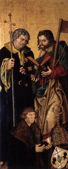 LUCAS CRANACH (1472 - 1553)     Altar wing (left, inner side) - 1537. Cathedral, Naumburg.
