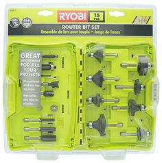Ryobi A25R151 15 Piece 14 Inch Shank Carbide Edge Router Bit Set for Wood >>> To view further for this item, visit the image link. This is Amazon affiliate link. #DIY
