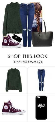 """""""🕷🕷 don't be fooled"""" by hannahmcpherson12 ❤ liked on Polyvore featuring H&M, Forever New, Converse, Casetify and Yves Saint Laurent"""