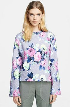 Carven Floral Print Sweatshirt on shopstyle.com