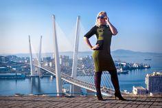 фотограф Vlad Master Владивосток, фото-сет  fashion съемка на фоне моста