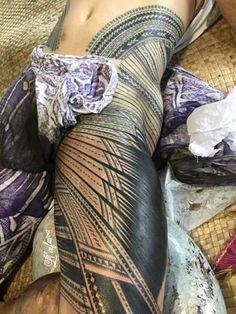 Beautiful Samoan Pe'a #samoantattoosleg
