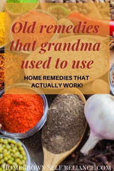 Grandma's old remedies that actually work! Look to the past for great tips on caring for common ailments. These 15 old remedies actually do work! Health 15 Old Home Remedies That Actually Work Natural Health Remedies, Natural Cures, Natural Healing, Herbal Remedies, Natural Oil, Natural Foods, Natural Treatments, Holistic Healing, Natural Beauty