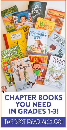 Awesome list of chapter book read alouds for grades 1-3! The blog post explains a little about each book and a few of the skills taught during each read aloud lesson.