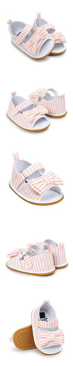 CoKate Baby Toddler Boy Girls Bow Knot Sandals First Walker Shoes (6-12Month, Pink)