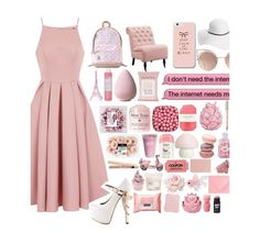 """&; Pink & Classy, read the desc."" by frxity-bxmb-galaxy ❤ liked on Polyvore featuring Chi Chi, ZiGiny, Pusheen, MANGO, David & Young, Home Decorators Collection, Merci Gustave!, Korres, Topshop and Pelle"