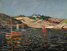 Maxime Maufra (French, 1861-1918), Entrance to the Port on Port-Goulphar, Belle-Îlle-en-Mer, 1909, Oil on canvas, 51 x 65.5 cm