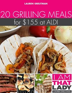 Healthy Menu Plans | 7 Different Menu Plans for Aldi Shoppers for Less than $150 – NEW Grilling Meal Plan!