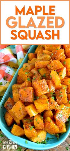 Maple syrup and roasted root vegetables go together like bread and butter. If you need proof, try this Maple Glazed Squash. Using a total of four ingredients, squash is transformed into a fall side dish worth its weight in gold! #roasted #butternut #squash #maple #syrup #glazed