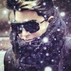 Adam Lambert all bundled up. Does this Man reek with STYLE????? Some have it. He could wear a brown paper bag and wear it well. Yummy........
