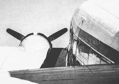 Aged Airplane Black & White Photography Fine Art Print
