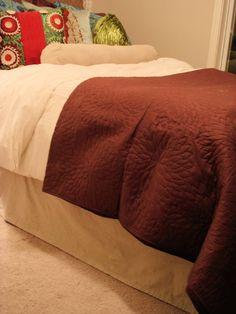 drop cloth bedskirt