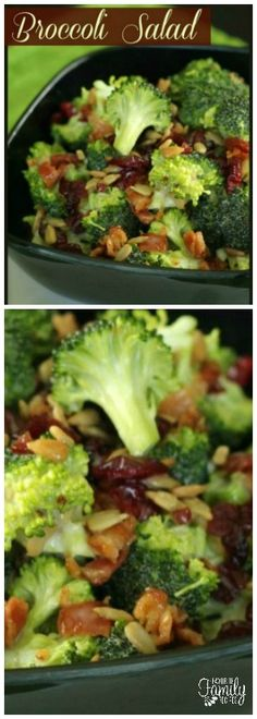 This Chopped Broccoli Salad is fresh, crunchy, and full of flavor. The crisp bacon, chewy raisins, and sweet dressing make it a delicious side for any meal. via @favfamilyrecipz