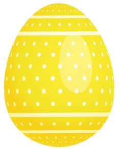 Yellow Easter Egg | ... Free Clipart Picture… Easter Pictures PNG Yellow Dotted Easter