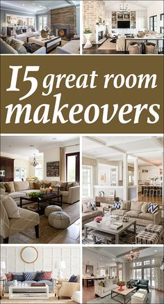 15 great room makeovers. Love seeing the trends, color palettes and furniture ideas from these rooms!! LOVE the inspiration!!